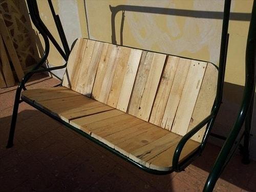 wood pallet swing ideas 15