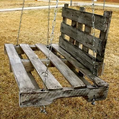 wood pallet swing ideas 8