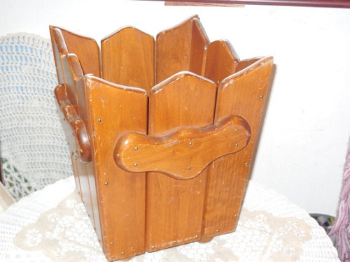 wooden kitchen trash bin 9