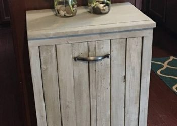 wooden trash bin cover