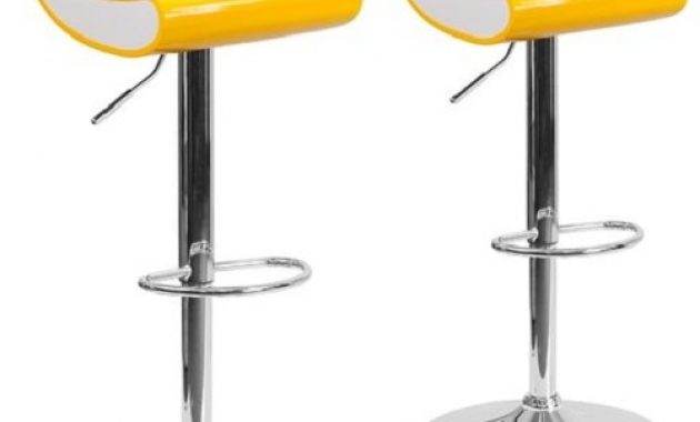 2 piece low back swivel bar stool 1