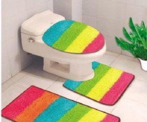 3 piece rainbow rug