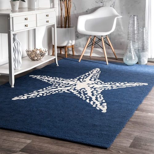 3x5 Bathroom Rug Nuloom Handmade Indoor Blue Rug Review