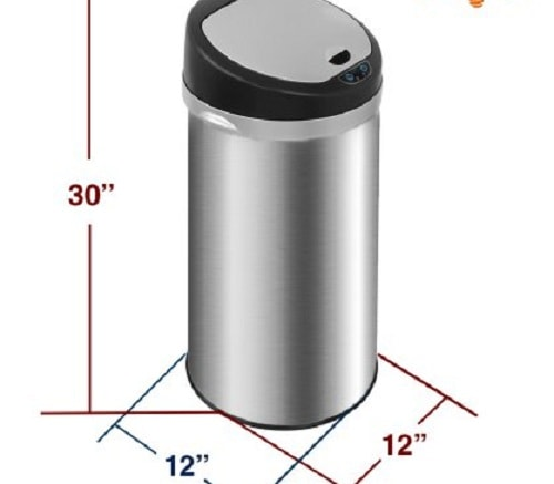 Deodorizer Touchless Trash Can 2
