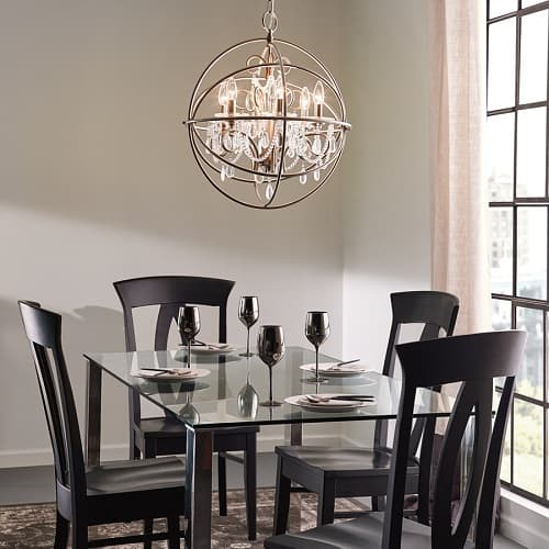 Kichler Vivian Brushed Nickel Globe Chandelier (Price: $249). Lowes Dining  Room Lights