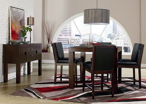 Living Room Sets Under 700 dark wood dining room set with leg table costa dorada collection