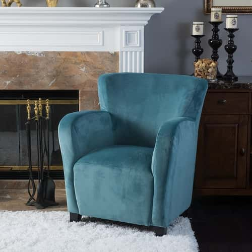 Angelo Velvet Fabric Wingback Chair