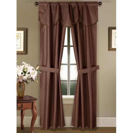 BROWN Rod Pocket Curtain