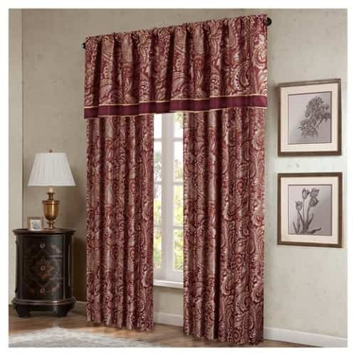15 impressive burgundy curtains for living room to buy. Black Bedroom Furniture Sets. Home Design Ideas