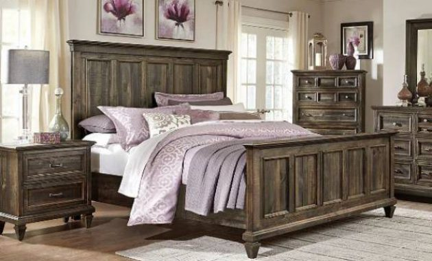 Calistoga 4-piece Queen Bedroom Set - Charcoal