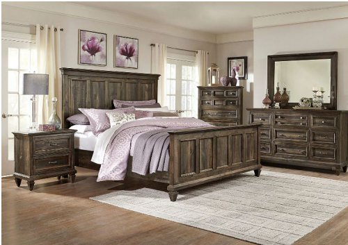 Calistoga 4-Piece Queen Bedroom Set – Charcoal