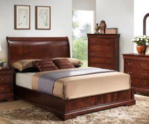 Claire 4-Piece King Bedroom Set – Brown Cherry