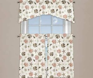Coastal Kitchen Curtains feature