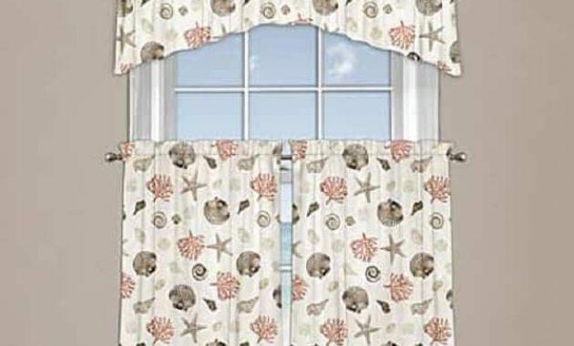 Coastal Kitchen Curtains feature