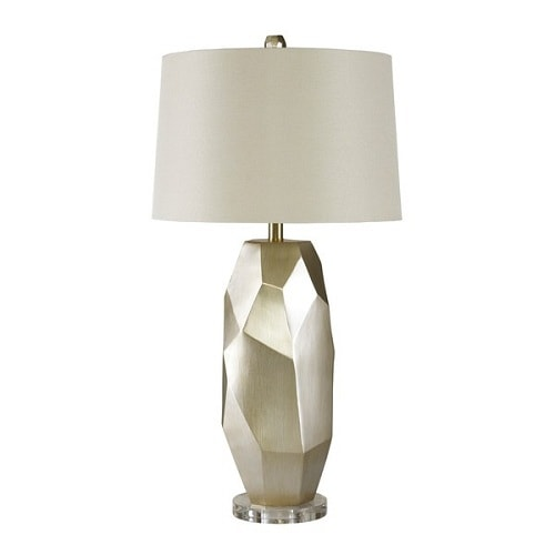 cheap table lamps for living room darda silver table lamp review. Black Bedroom Furniture Sets. Home Design Ideas