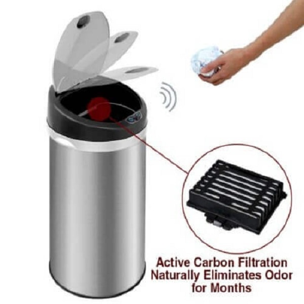 Deodorizer Touchless Trash Can