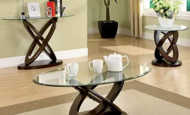 Evalline Dark Walnut Table Set
