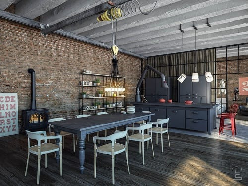 Industrial Kitchen Ideas 10-min