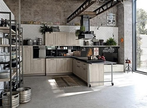 Industrial Kitchen Ideas 4