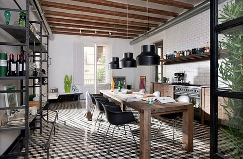 Industrial Kitchen Ideas 7-min
