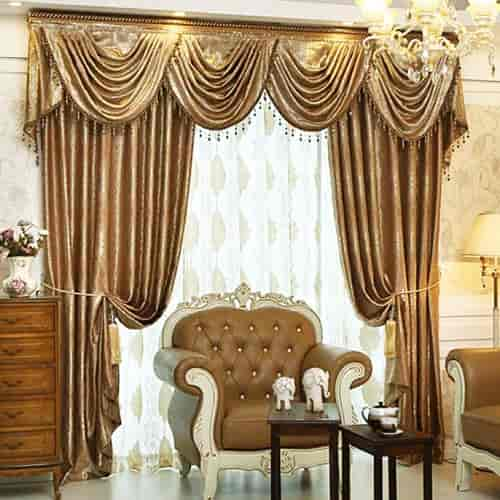 Decorative Curtains For Living Room Luxury Light Coffee Brief Review
