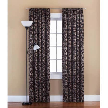 Mainstays Distressed Damask Curtain