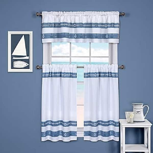 Ships And Chambray Curtain Valance