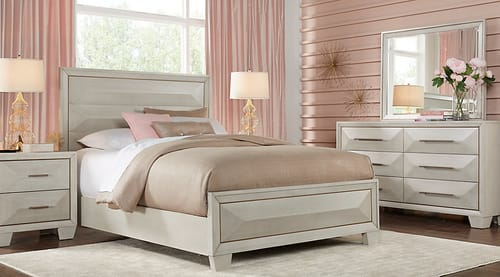 Sofia Vergara Cambrian Court White 5 Pc Queen Panel Bedroom