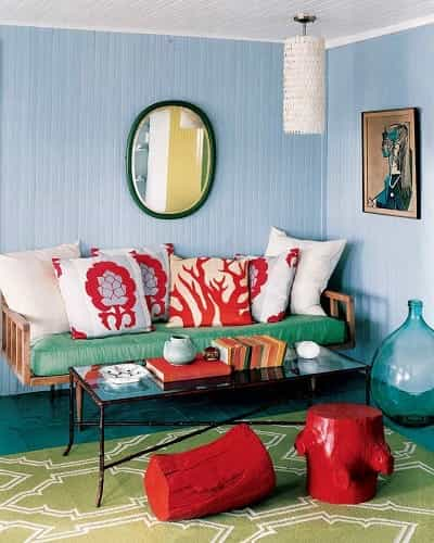 10 Most Colorful Teal And Red Living Room Ideas To Inspire