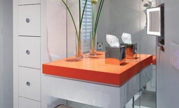 bathroom vanity with makeup station