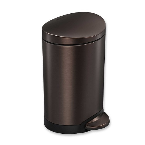 15 catchy and enticing black bathroom trash can under 45 for Bathroom garbage can