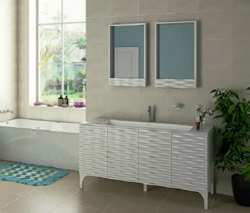 "DECOLAV Sophia 60"" Prefab Bathroom Vanity 1"