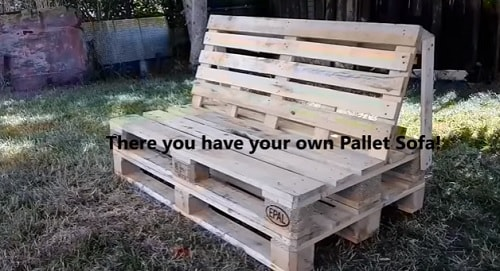 DIY wood pallet sofa tutorial 4