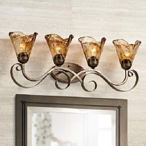 organic amber glass light