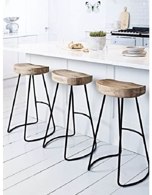 kitchen island stools with back cover