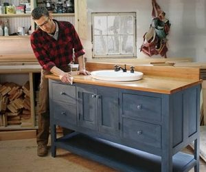 make your own bathroom vanity
