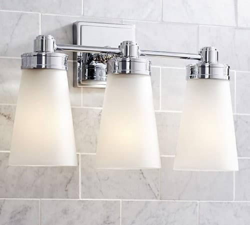 15 most beautiful pottery barn bathroom sconces under 300 for Black sconces for bathroom