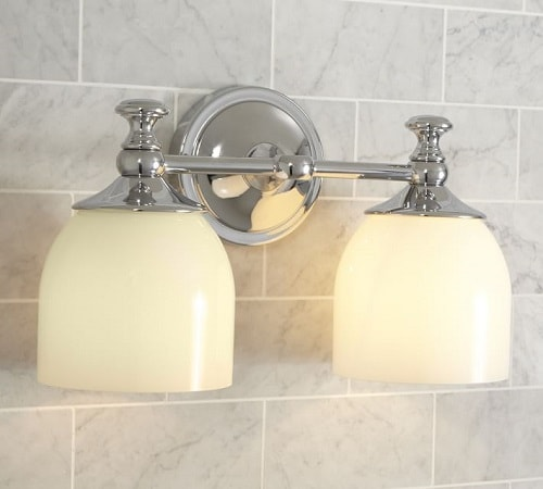 pottery barn bathroom sconces