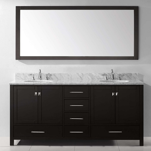 "stoneham 72.8"" double prefab bathroom vanity"