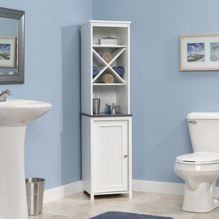 small white cabinet for bathroom