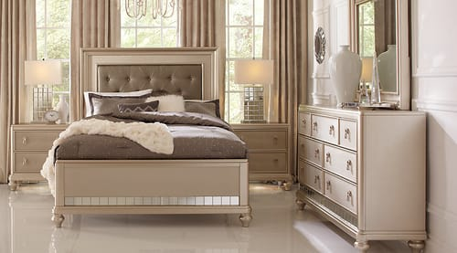Sofia Vergara Collection Paris Silver 5 Pc Queen Bedroom