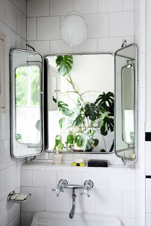 Tri Fold Bathroom Mirror