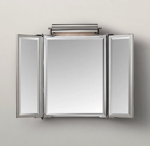 tri-fold bathroom mirror