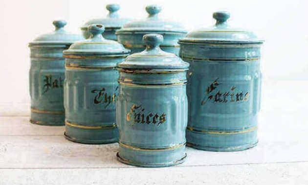 turquise kitchen canisters feature