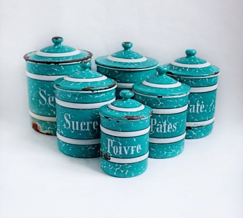turquoise kitchen canister 00