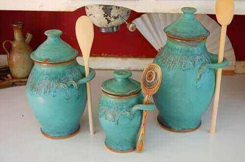 turquoise kitchen canisters 2