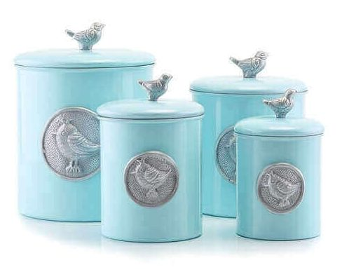 turquoise kitchen canisters