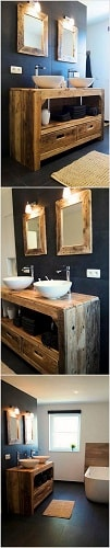 wood pallet bathroom decoration ideas 12