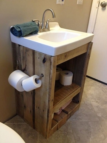 wood pallet bathroom decoration ideas 14