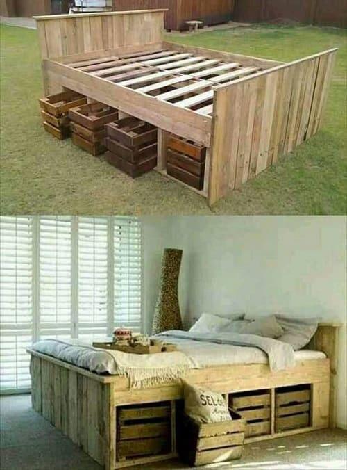 wood pallet bedroom ideas 6